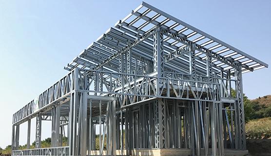 casa cu structura metalica usoara