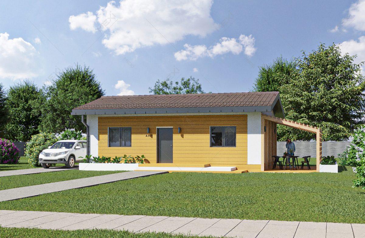 proiect casa modulara din pereti tipizate