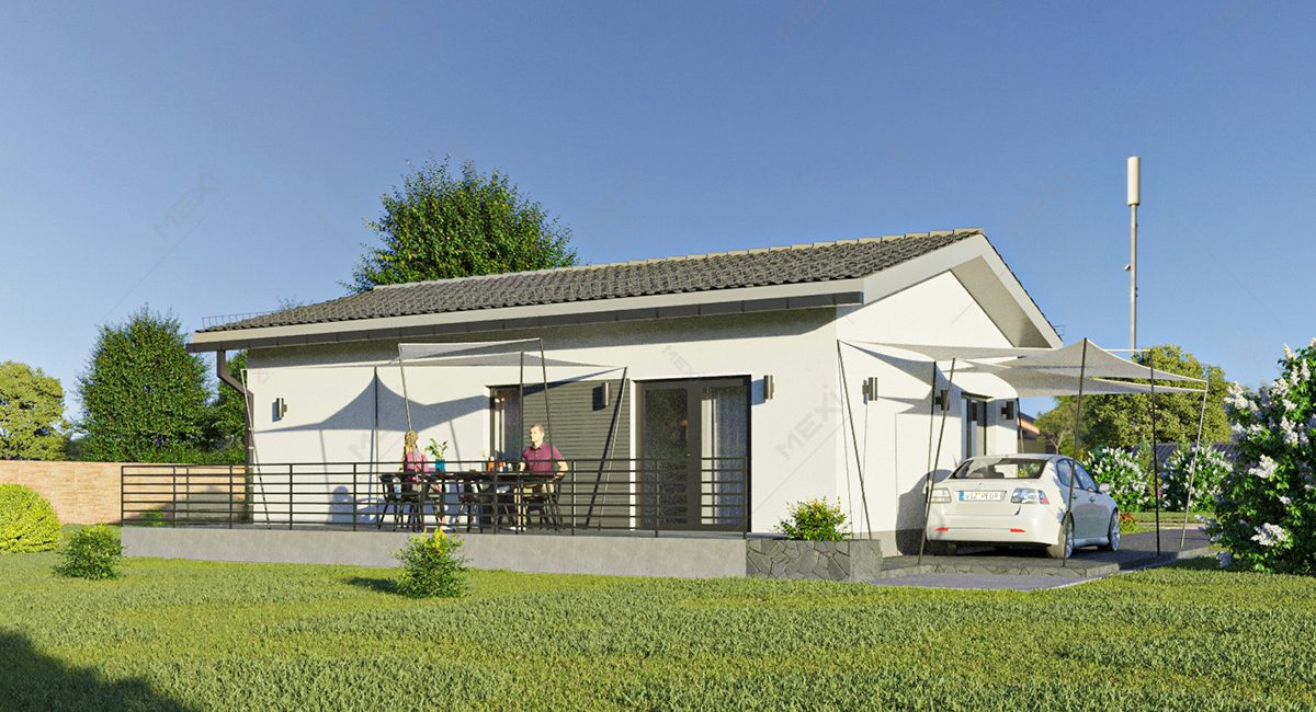 casa din module standard prefabricate