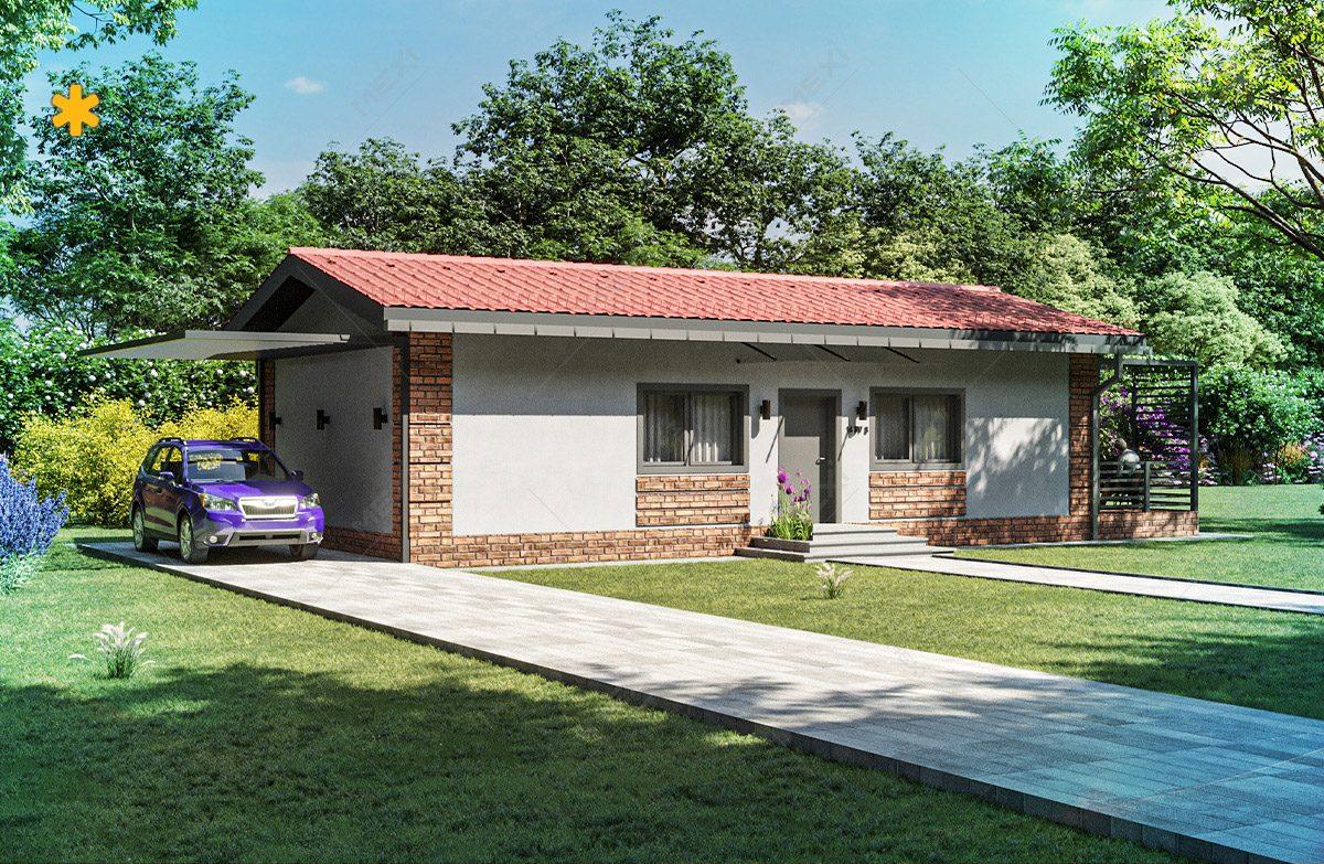 proiect de casa pe sistem de constructie modulara