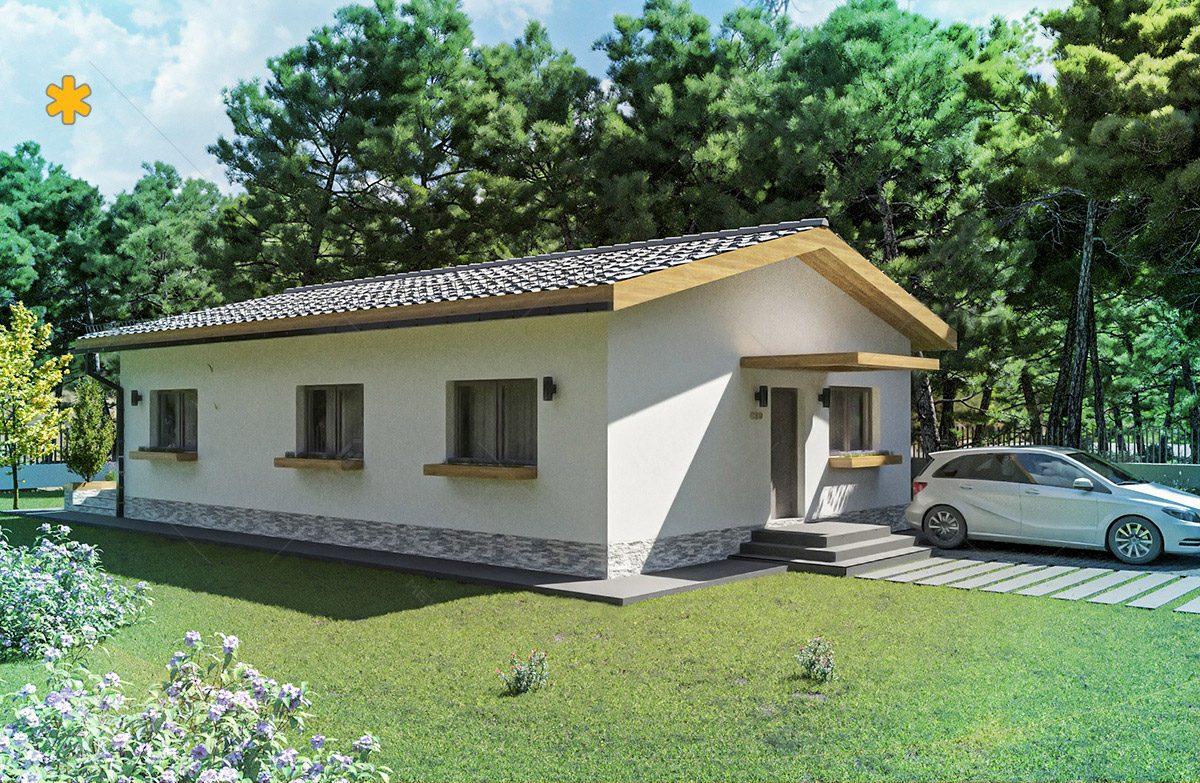 proiect de casa pe sistem de cladire modulara