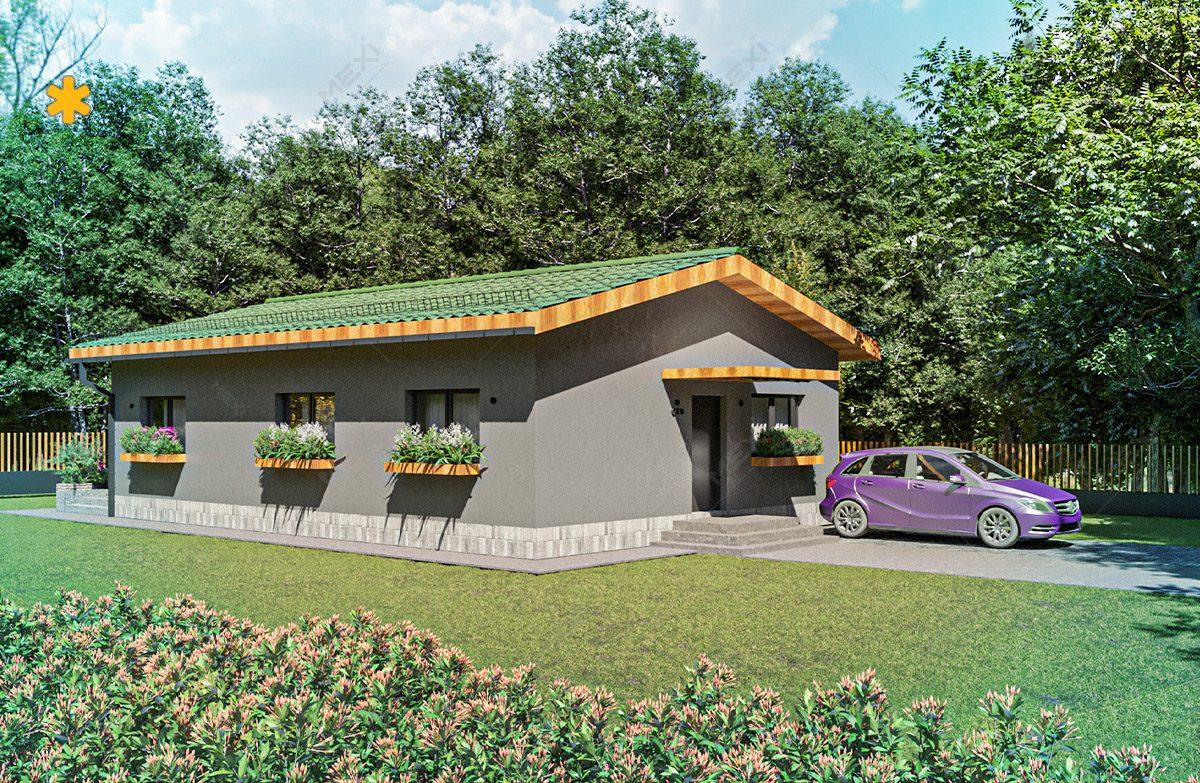 casa tipizata proiectata pe sistem de constructie modulara