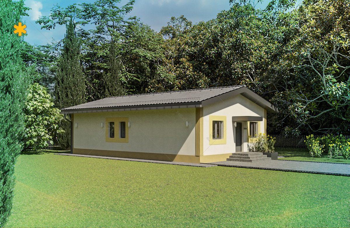 proiect de casa tipizata pe sistem de cladire modular