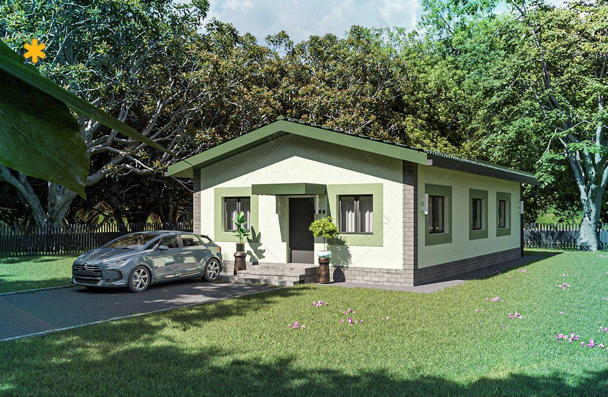proiect casa tipizata, pe sistem modular