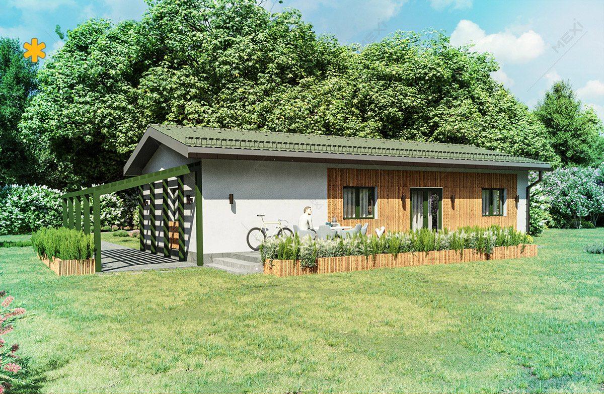proiect casa tipizata pe sistem de cladire modulara