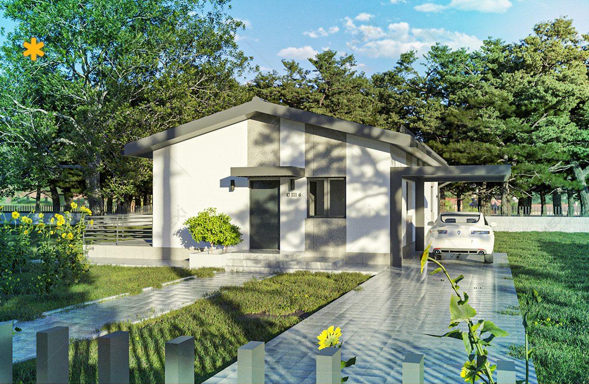 proiect casa tipizata cu sistem de constructie modulara
