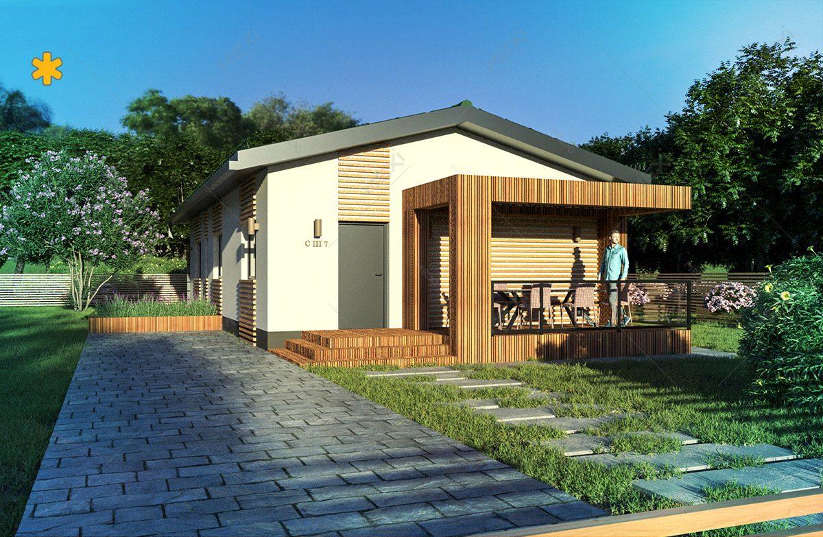 casa tipizata proiectata in sistem de constructie modulara