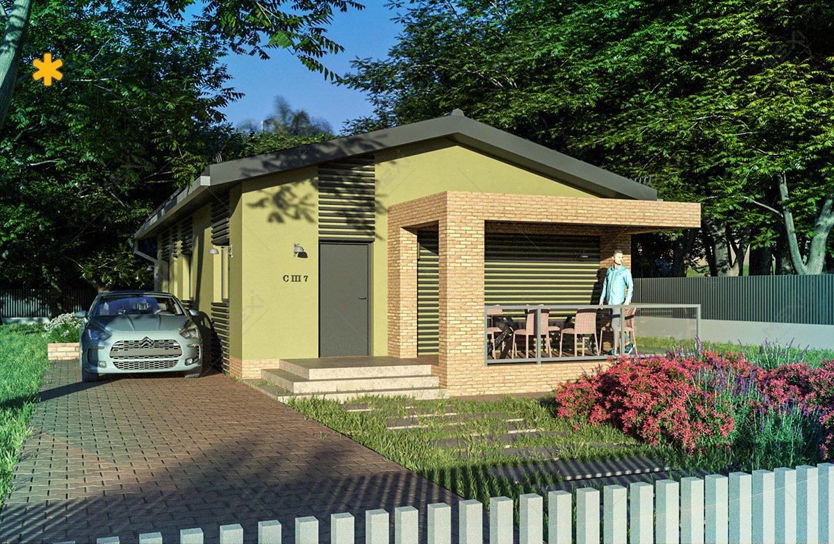 proiect 3d casa cu module din structura metalica usoara