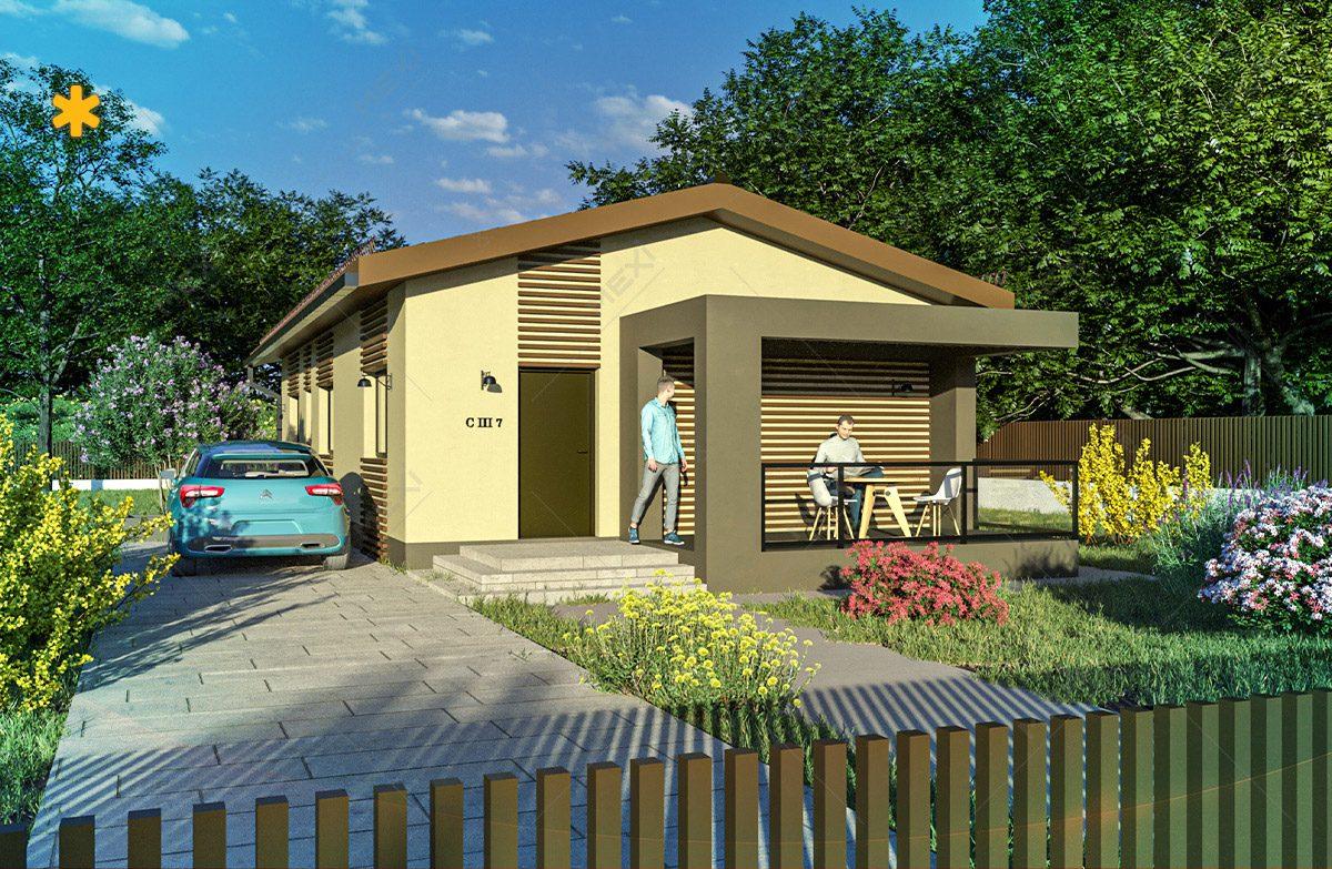 proiect 3d casa ieftina pe sistem modular