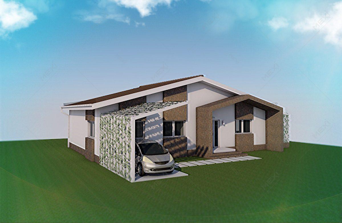 casa pe sistem modular din profile metalice MEXI