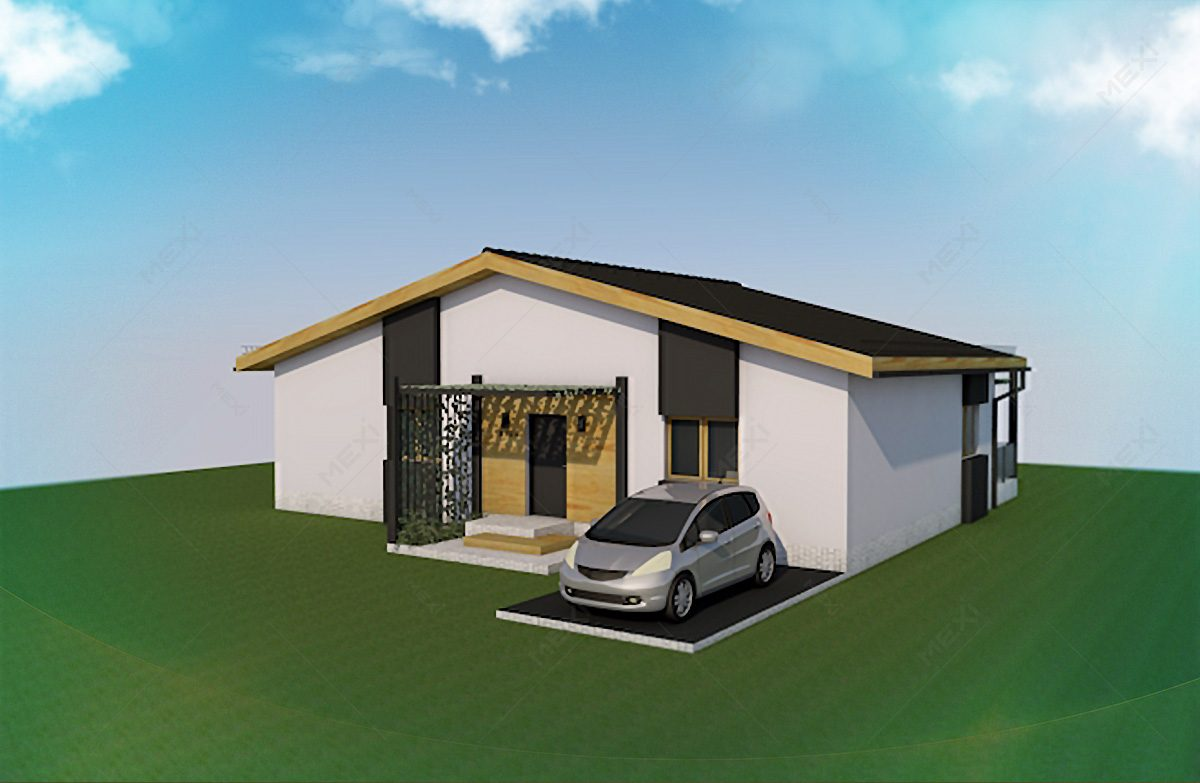 casa pe sistem modular dpe structura metalica usoara