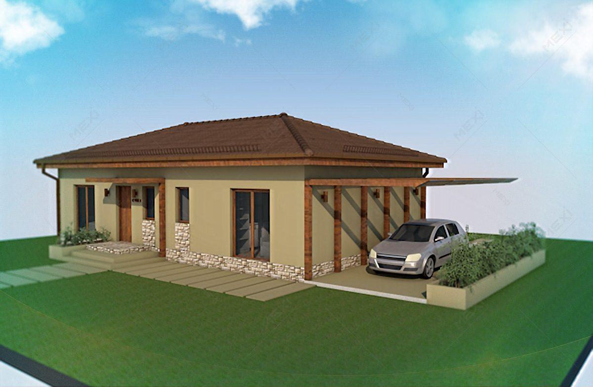casa pe sistem modular - casa tipizata