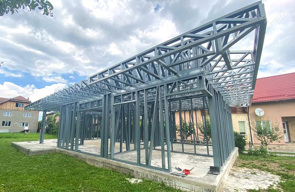 casa construita in Huedin pe sistem framing