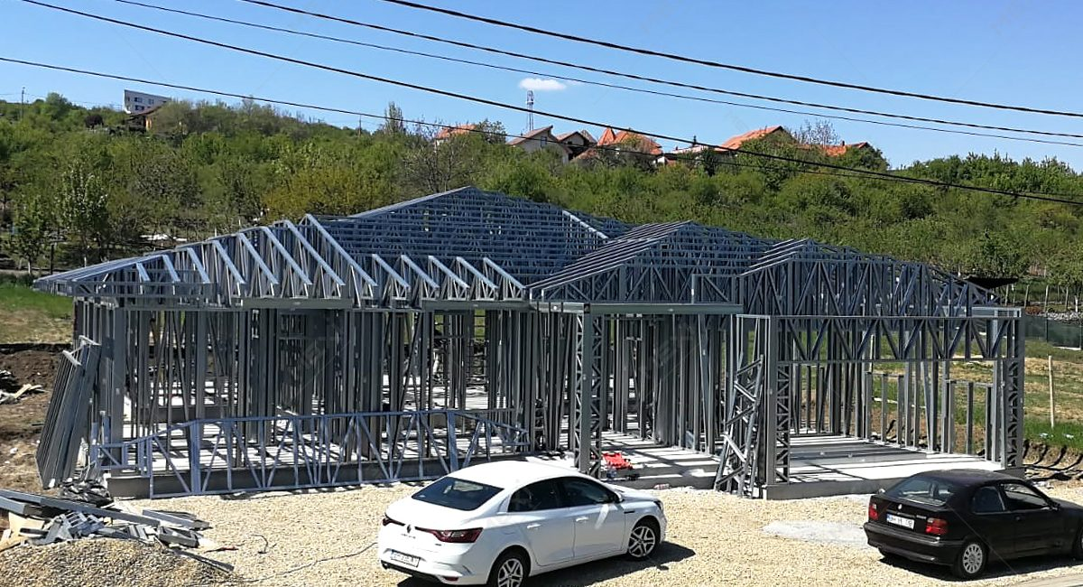 casa construita pe structura din profile MEXI
