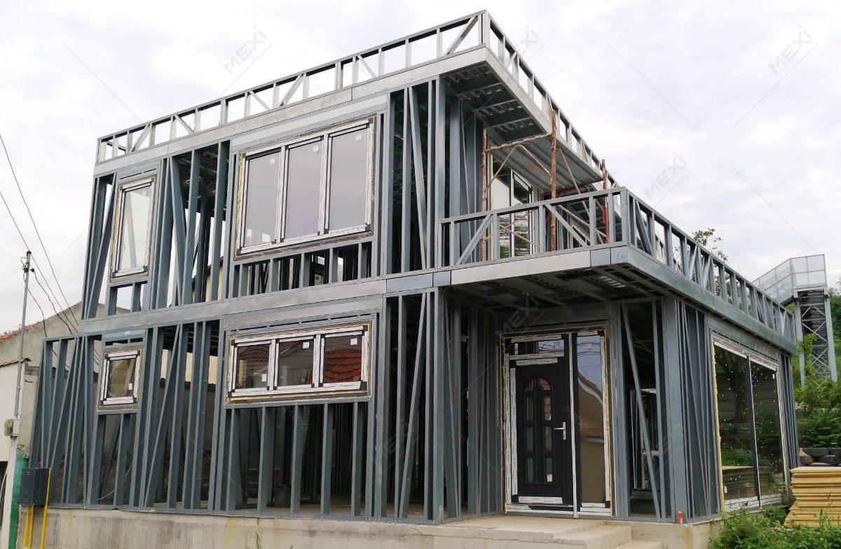 constructie casa pe structura metalica