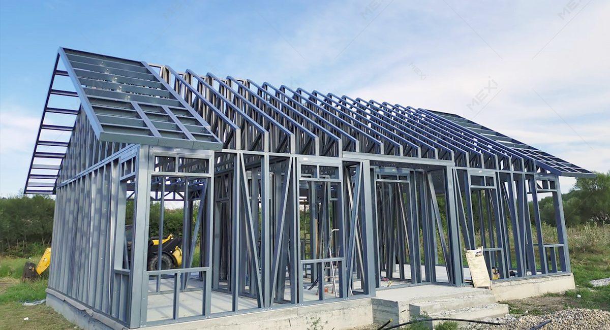 constructie casa pe structura metalica usoara