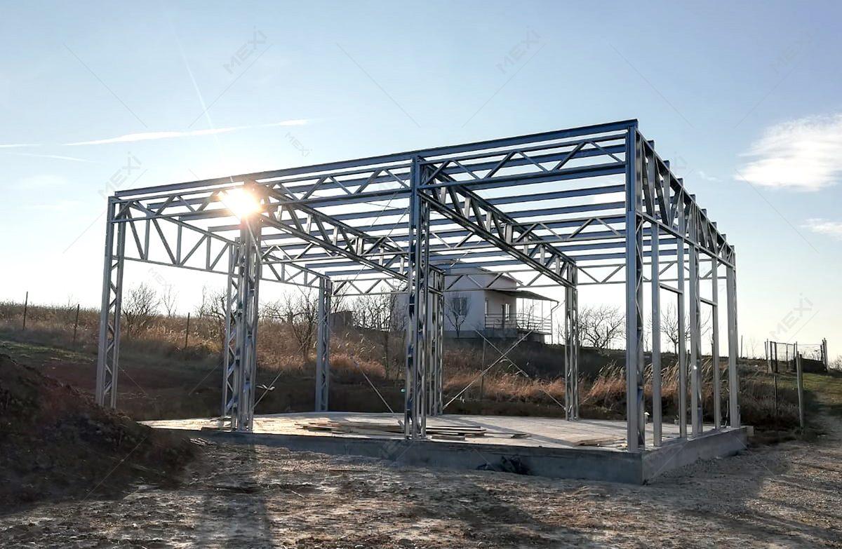 constructie hala mica de productie pe structura usoara