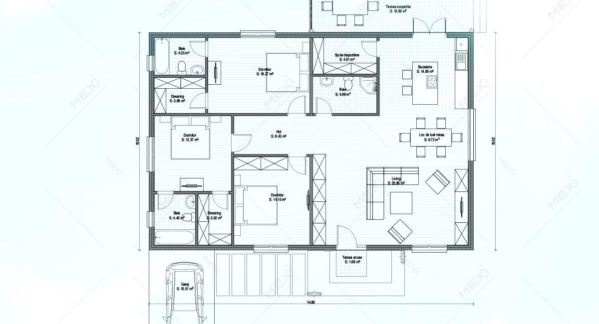 plan proiect casa din module