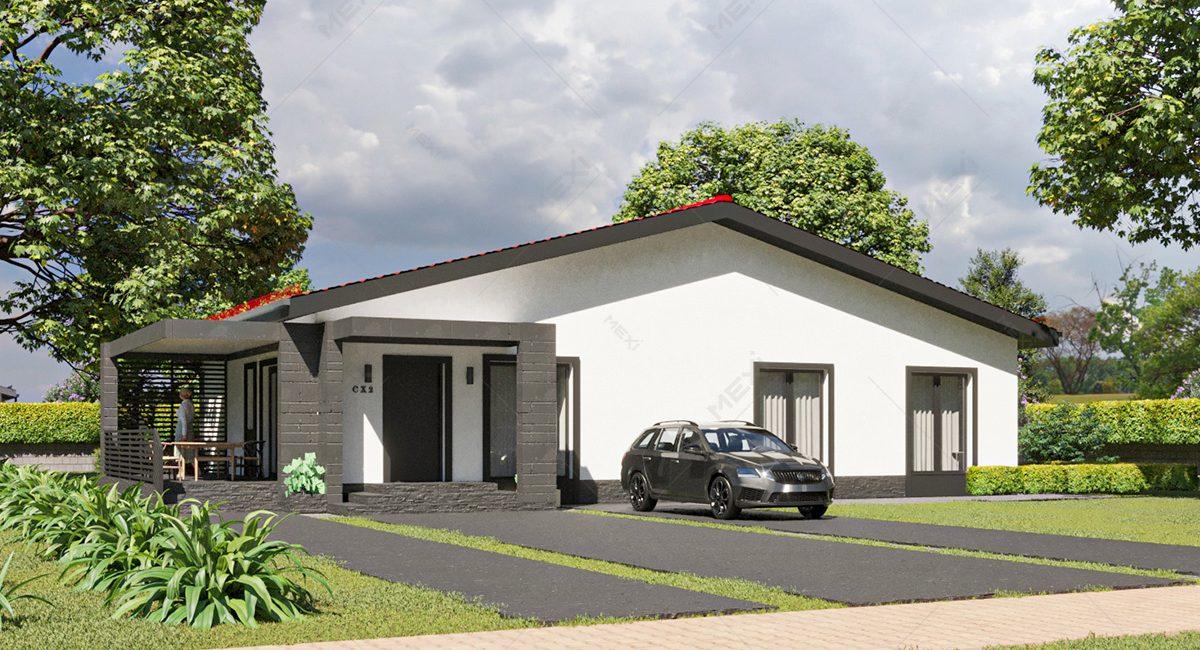 proiect 3D casa pe sistem modular