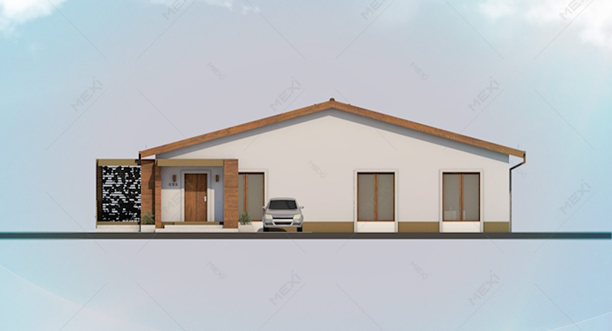fatada casa pe sistem modular