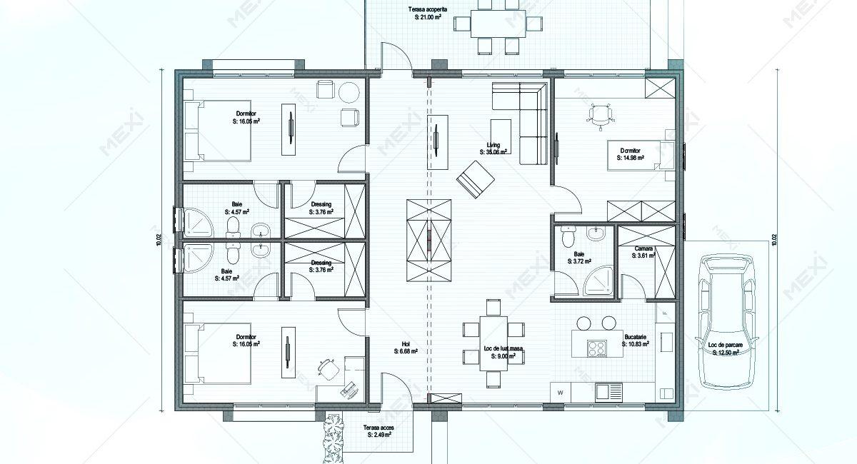 plan casa modulara