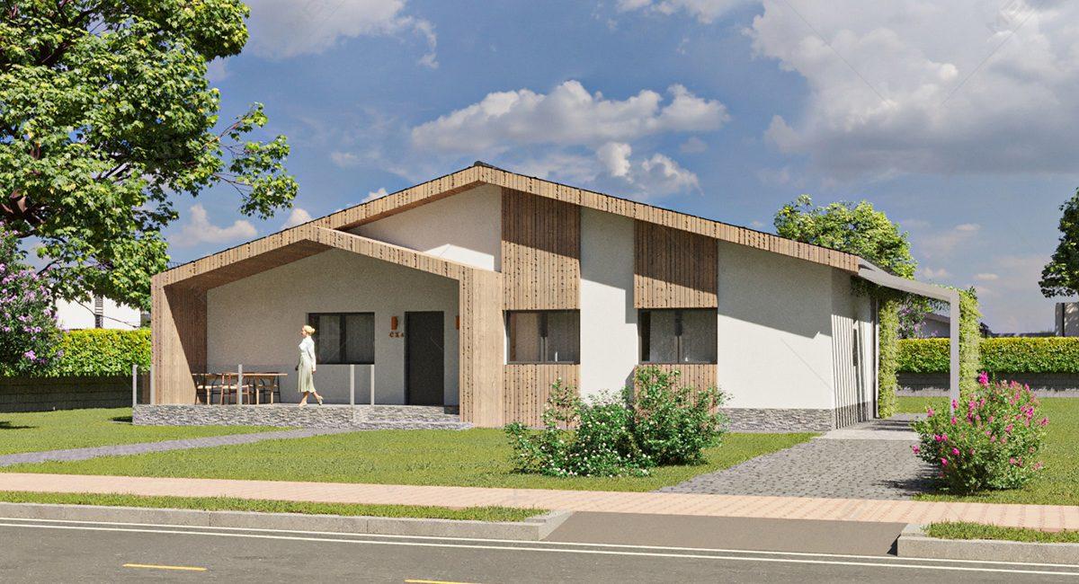 proiect 3D casa din modulara din module prefabricate tipizate