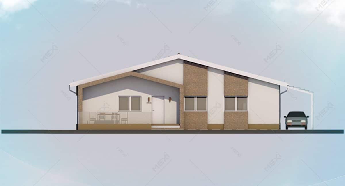 fatada casa din modulara din module prefabricate tipizate