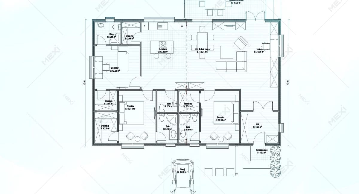 plan proiect casa modulara